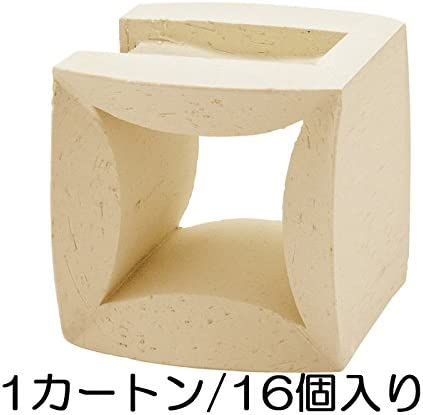 ブロック せっき質無釉ブロック ポーラスブロック100コーナー ハナワ フラワーF(配筋溝あり・1面フラット) 16個セット単位 屋外壁