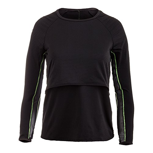 Lucky In Love Into The Woods Shadow Striped Long Sleeve Layered Crop (XLarge) (Lucky In Love Tennis Into The Woods)