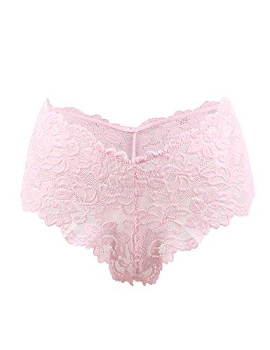 87a9df1cbce4 Oliveya Womens Plus Size Boyshort Panties Lace Underwear Briefs Lingerie  Thong