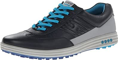 ECCO Men's Street EVO One Golf Shoe,Marine/Silver,43 EU/9-9.5 M US