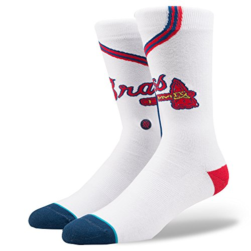 Atlanta Braves Franchise - Stance Men's Braves Home Socks White L