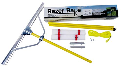 Jenlis Razer Rake - Collapsible All-Purpose Aluminum Lake and Landscape Weed Rake ()