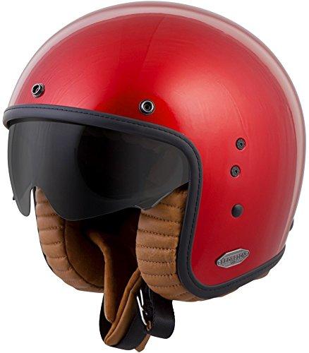 ScorpionExo Belfast 3/4 Open Face Helmet (Candy Red, XX-Large)