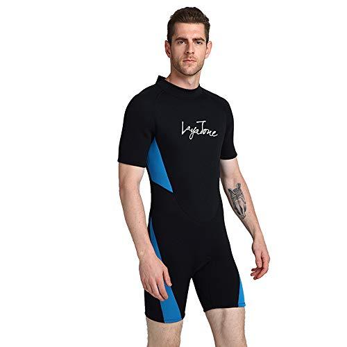 ZUKN Men's Wetsuits, 3MM Neoprene One Piece Full Body Diving Suit Short Sleeve Sunblock Swimwear for Scuba Swimming…