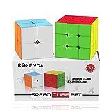 Speed Cube Set, Roxenda Magic Cube Bundle of