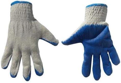 Geko G73563 - Guantes de trabajo (algodón, S.10, con nitrilo ...