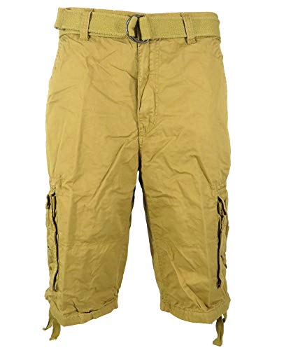 Tank Men's Light Twill Cargo Shorts, Khaki, 34