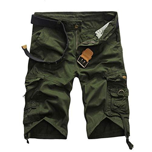 D'affaires Cargo Loisirs Des De Basic Mode Hommes Pour Pantalon Unie Grün Avec L'été Shorts Court Chic Couleur Chino q6xfRngnvw