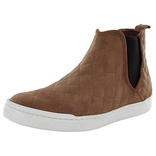 Steve Madden Womens Elvinn-Q Chelsea Sneaker Shoe, Cognac, US 7