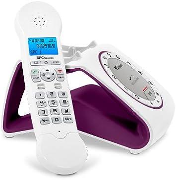 SPC Retro Glamour - Teléfono (DECT Escritorio, 50 entradas), color berenjena: Amazon.es: Electrónica
