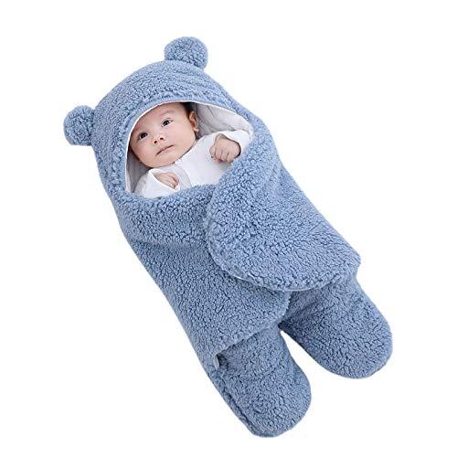 JJDN Schattige beer babyslaapzak, upgrade dikker winter warm pasgeboren inbakeren pak voor jongens meisjes, zachte…