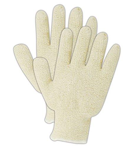 Magid PT920R TerryMaster Natural Color Lightweight Terrycloth Gloves, Standard, White  (One Dozen)