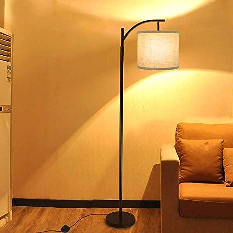 Design Steh Leuchte Natur Holz Wohn Arbeits Zimmer Beleuchtung Lese Stand Lampe