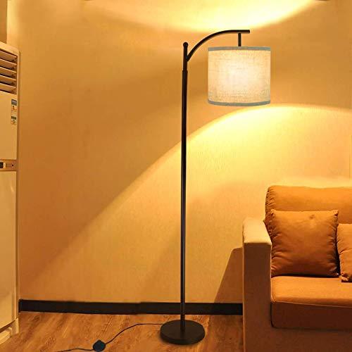Lámpara de pie de DLLT de 40 W, retro, lámpara de pie de metal con ...