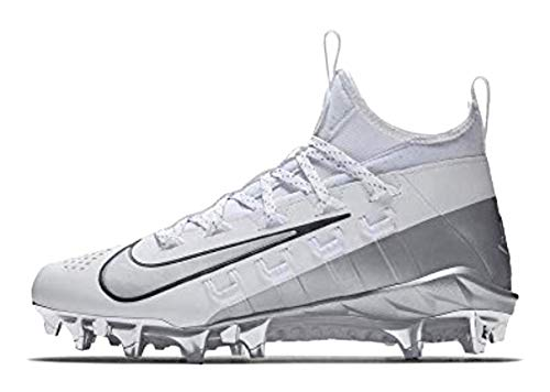 Nike Alpha Huarache 6 Elite LAX LE Lacrosse Cleats 923422-101 Size 6 Men 7.5 Women Unisex White/Metallic Silver