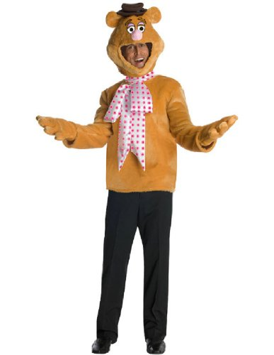 The Muppets Fozzie Bear Costume, Brown, One Size (Fozzie Bear Adult Costume)