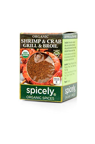 Spicely 100% Organic and Certified Gluten Free, Shrimp and Crab, Grill and Broil Seasoning
