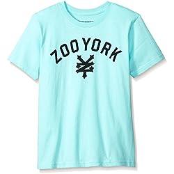 Zoo York Men's Big Boys' Short Sleeve Crew Neck Shirt, Immergruen Open Green, Small