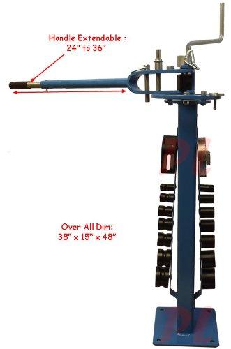 Pedestal Floor Compact Bender Bending Metal Fabrication Solid Rod Tube 14 Dies by Generic