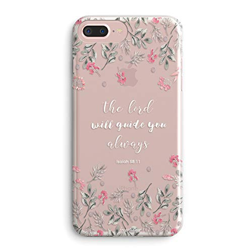 iPhone 5s Case,iPhone SE Case,Floral Flowers Bible Verses Inspirational Quotes Cute Girls Women Isaiah 58:11 The Lord Will Guide You Spring Roses Clear Soft Case Compatible for iPhone SE/iPhone 5S (Iphone 5s Case Beach Quotes)