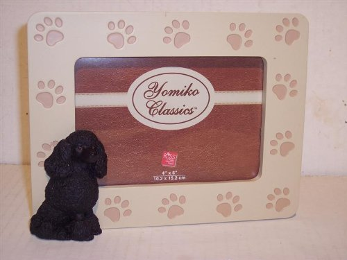 Yomiko Canine Picture Frame-Black Poodle