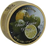 Cavendish and Harvey Sour Lemon Drops, 5.3 Ounce Tin -- 12 per case.