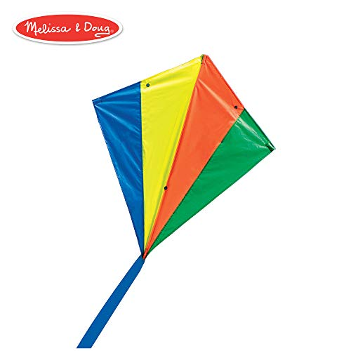 Melissa & Doug Rainbow Stunt Kite Children's Kite - Nylon Stunt Kite