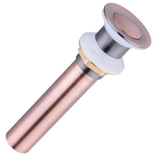Push-Button Style Pop Up Drain [antique copper]