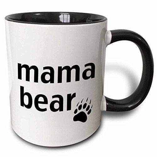 3dRose Mama bear Black mug 123095 4