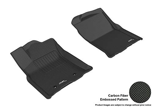 3D MAXpider L1TY19211509 Black All-Weather Floor Mat for Select Toyota Tacoma Access Cab Models Front Row