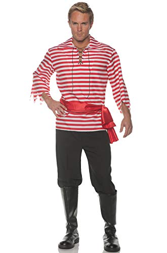 Underwraps Men's Classic Pirate Costume Set-Red, Double X-Large