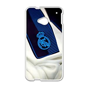 HTC One M7 Cell Phone Case White Real Madrid Badge Llhql