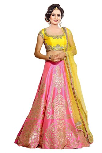 Store Mart Women's Paper Silk Lehenga Choli