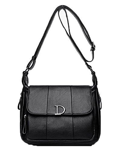 Zippers sacs à Femme AgooLar bandoulière Des GMBBB180935 Pu Cuir Sacs Noir Achats tIaI4wgq