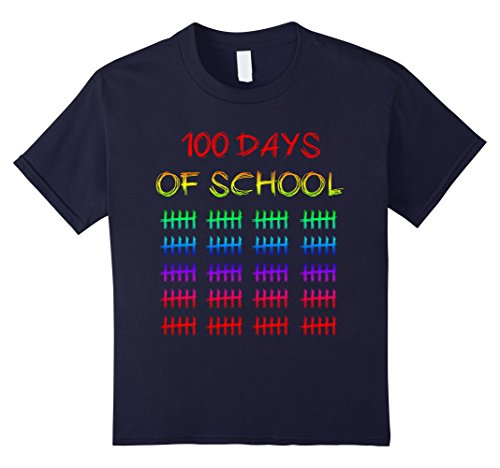 Kids 100 Days Of School Funny Kids Gift Idea 100th Day T-Shirt 6 Navy