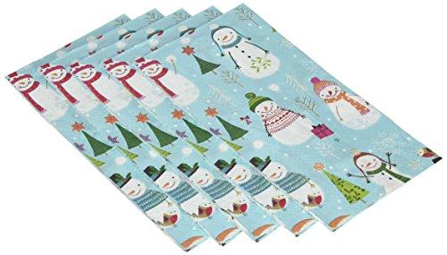 Ideal Home Range 16-Count Sweaterific Snowmen Paper Guest Towel Napkins