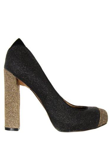 d50c85605e5c8 Sam Edelman Frances Black   Antique Gold Shoes 8  Amazon.co.uk ...
