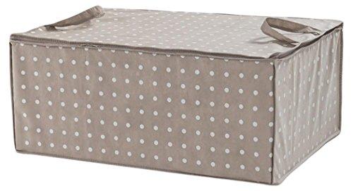 Compactor Rivoli Duvet Storage Bag 70 x 50 x 30cm, Cappuccino and White