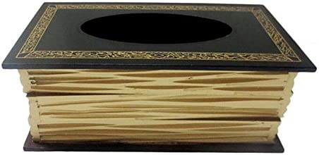 Generic caja para pañuelos servilletero madera, forma de libro para ...