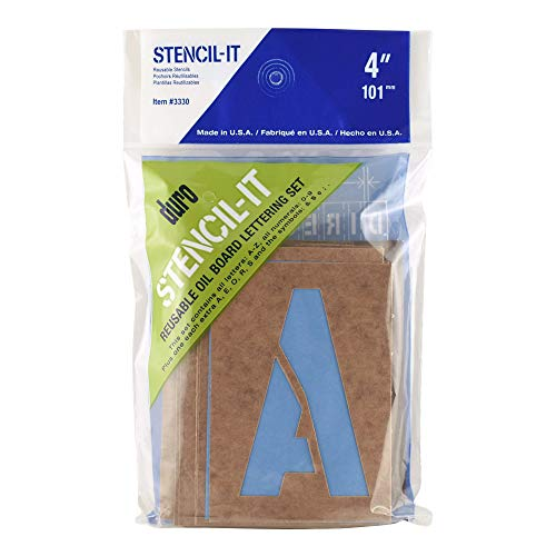 Duro Stencil-It, Reusable Oil Board Lettering Set, 3330, 4 inches ()