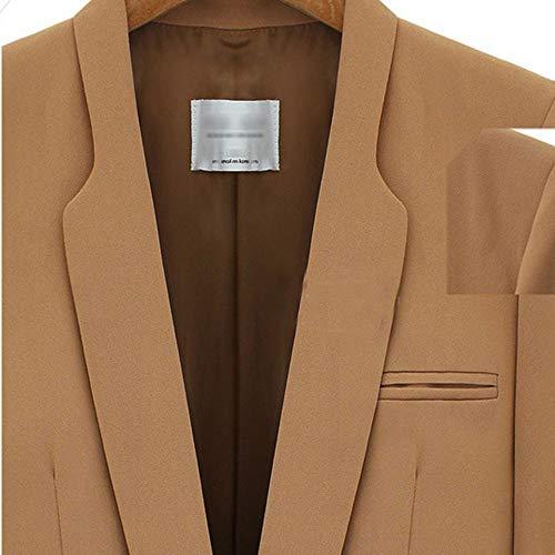 Doudoune Coupe Outwear Gilets Hiver Blazer Ouverts Femme Zezkt Blouson vent Pull Costume Chaud Formelle Style Avant Ol Marron Affaire Veste Cardigan Kaki D' Manteau Cascade Parka HHTSzUwq
