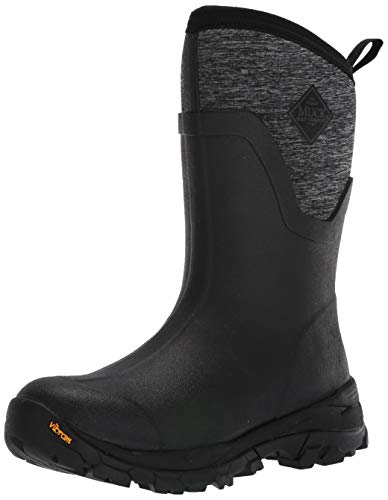 - Muck Boot Women's Arctic Ice Mid Snow Boot, Black/Heather Jersey, 6 Regular US