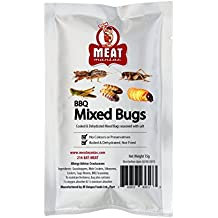 Meat Maniac BBQ MIXED BUGS ASSORTMENT- Grasshoppers, Mole Crickets, Silkworms, Crickets & Sago Worms