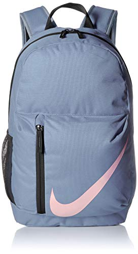 NIKE Kids' Elemental Backpack, Ashen Slate/Black/Pink, One Size