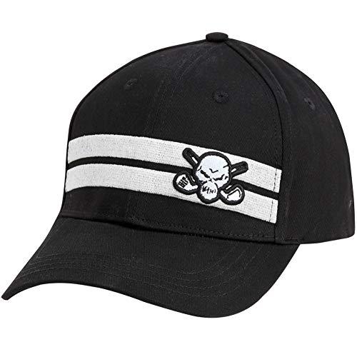 TattooGolf Clubhouse Striped Golf Hat (Black/White) ()