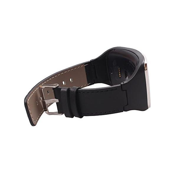 Alonea® Genuine leather Watch Wrist Strap Band For Samsung Gear S SM-R750 Smart