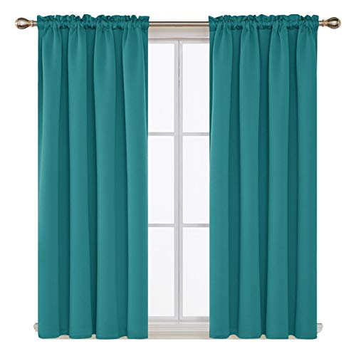 Deconovo Blackout Curtains Rod Pocket Noise Reducing Thermal