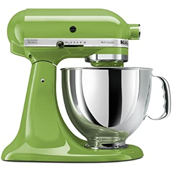 Incroyable KitchenAid KSM150PSGA Artisan Series 5 Qt. Stand Mixer With Pouring Shield    Green Apple