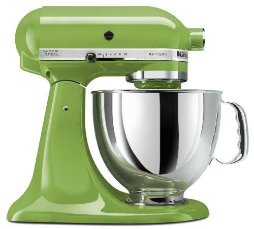 KitchenAid KSM150PSGA Artisan Series 5-Qt. Stand Mixer with Pouring Shield - Green Apple - coolthings.us