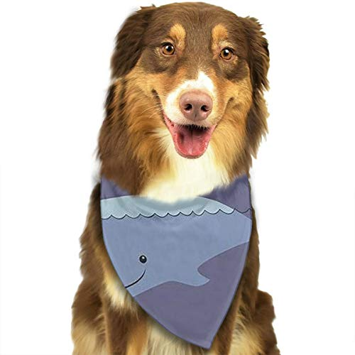 (Dog Bandana Whale and Polar Bear Triangle Bibs Scarf Printing Kerchief Set Accessories Dogs Cats)